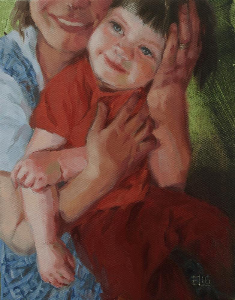 """A Squeeze"" original fine art by Emilia Leinonen"