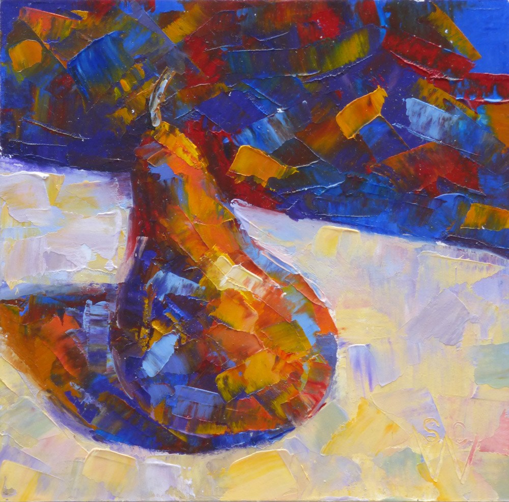 """Calico Pear"" original fine art by Susan Woodward"