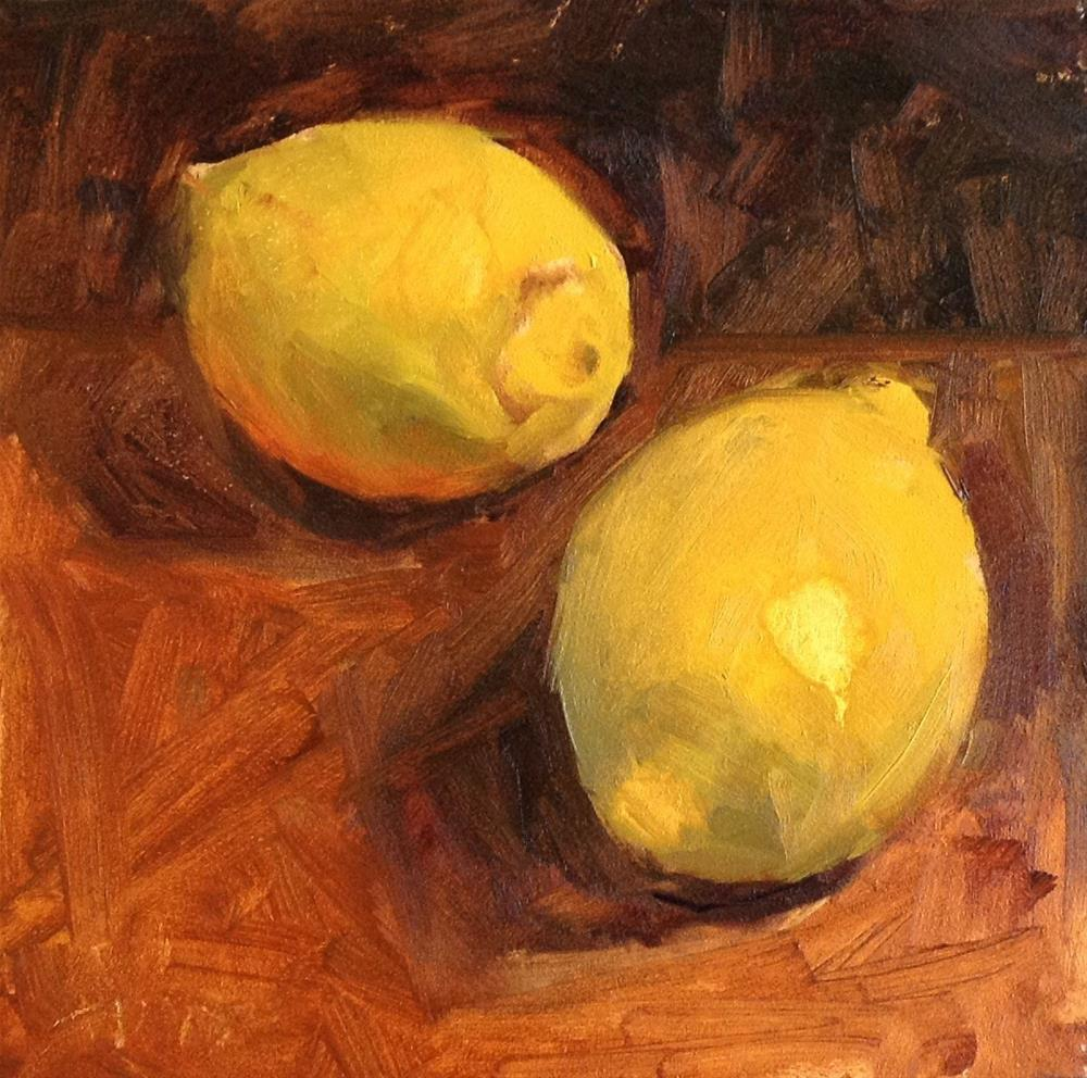 """Simply Lemons"" original fine art by Barbie Smith"
