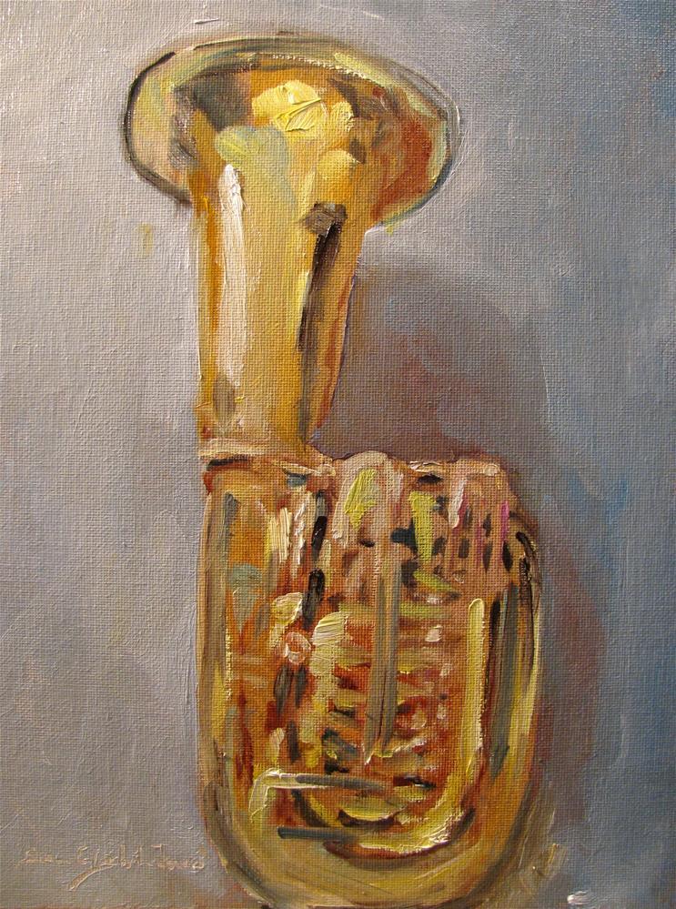 """""""Morgan's Tuba"""" original fine art by Susan Elizabeth Jones"""
