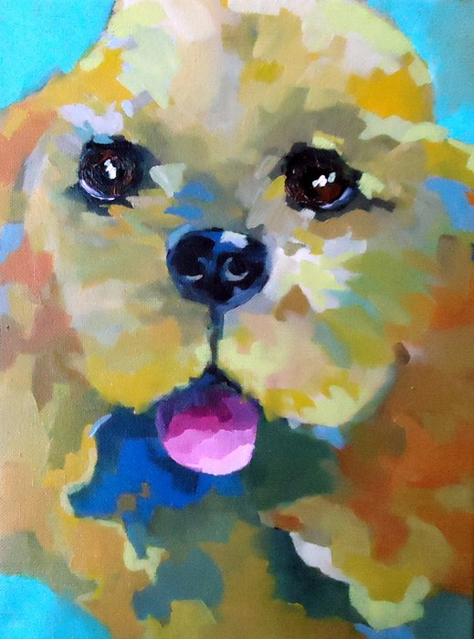 """Lucy"" original fine art by Laurie Mueller"