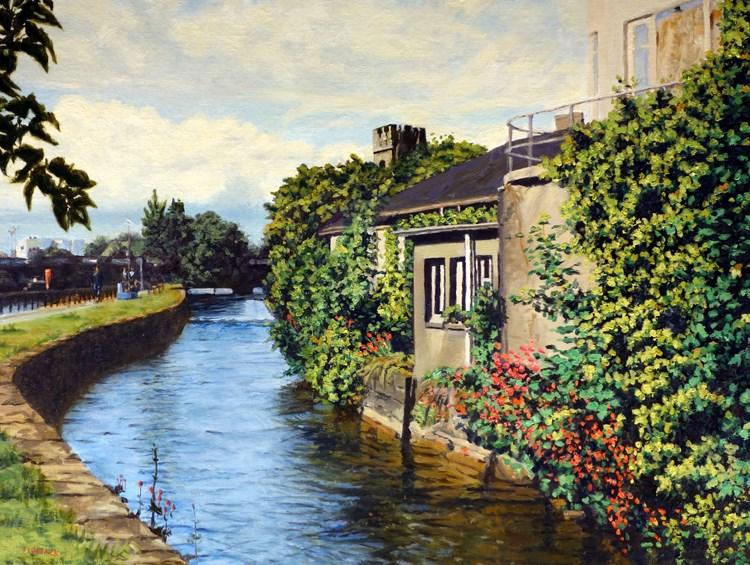 """Galway City Ireland"" original fine art by Daniel Fishback"