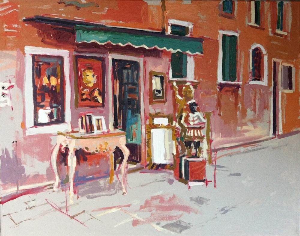 """Antique shop, Venice"" original fine art by Haidee-Jo Summers ROI"