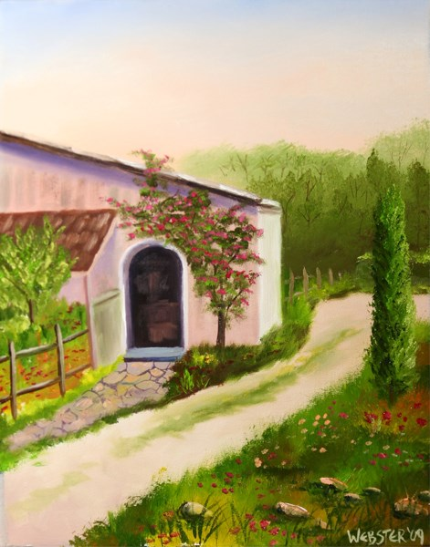 """Mark Webster - Tuscan Villa in Siena Oil Painting"" original fine art by Mark Webster"