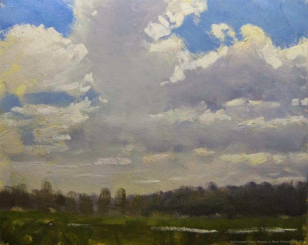 """""""Sky paint Laag Keppel The Netherlands"""" original fine art by René PleinAir"""