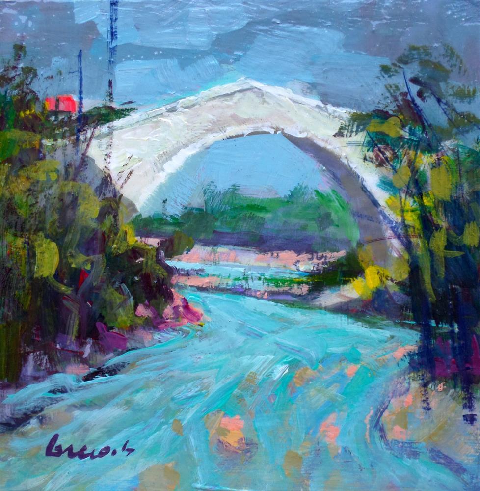 """""""View of the bridge"""" original fine art by salvatore greco"""
