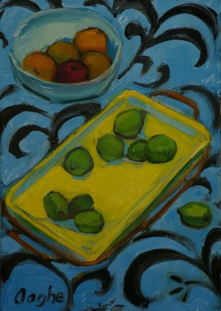 """Still Life with Fruit"" original fine art by Angela Ooghe"