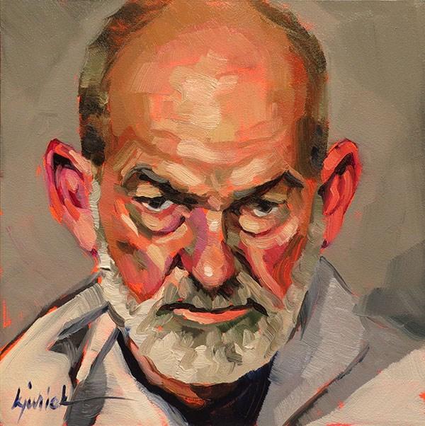 """200 Faces, No. 130"" original fine art by Karin Jurick"