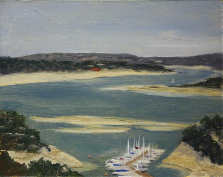 """Drought Lowered Travis"" original fine art by Jane Frederick"