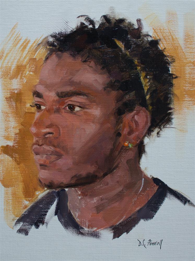 """Frenchy"" original fine art by Donna C Farrell"