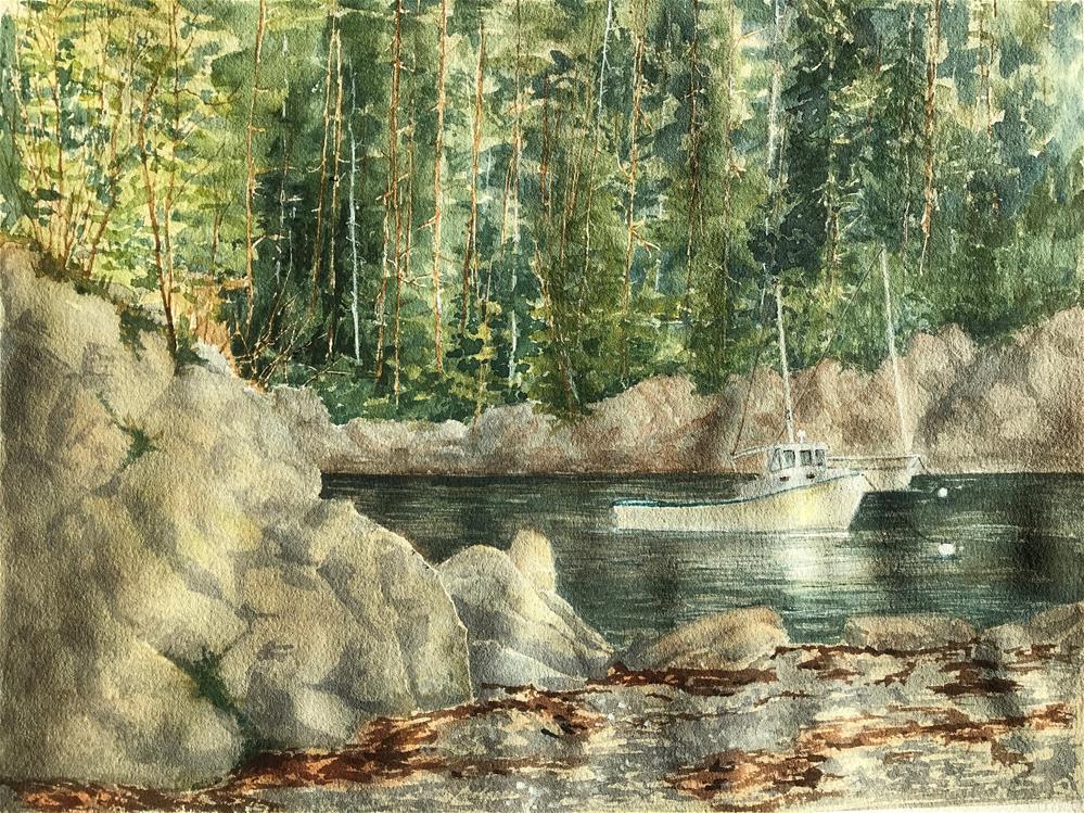"""Lake in Acadia"" original fine art by Betty Argiros"