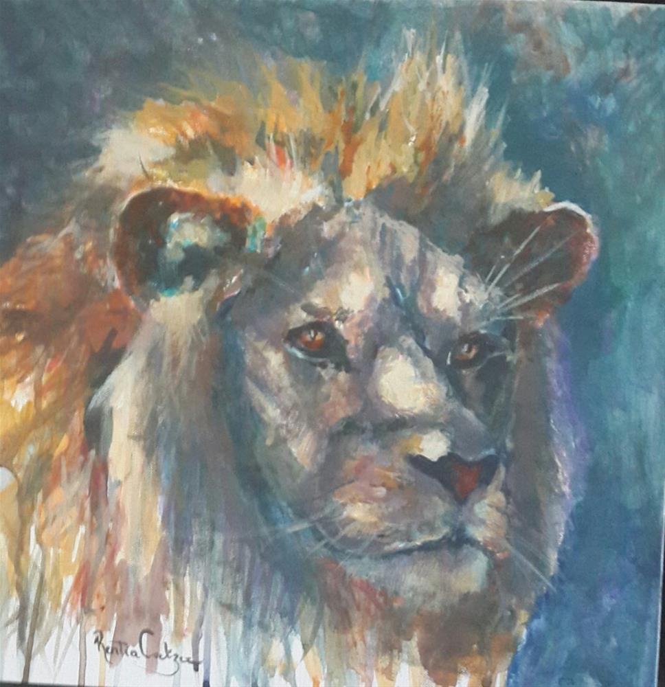 """On the hunt"" original fine art by Rentia Coetzee"