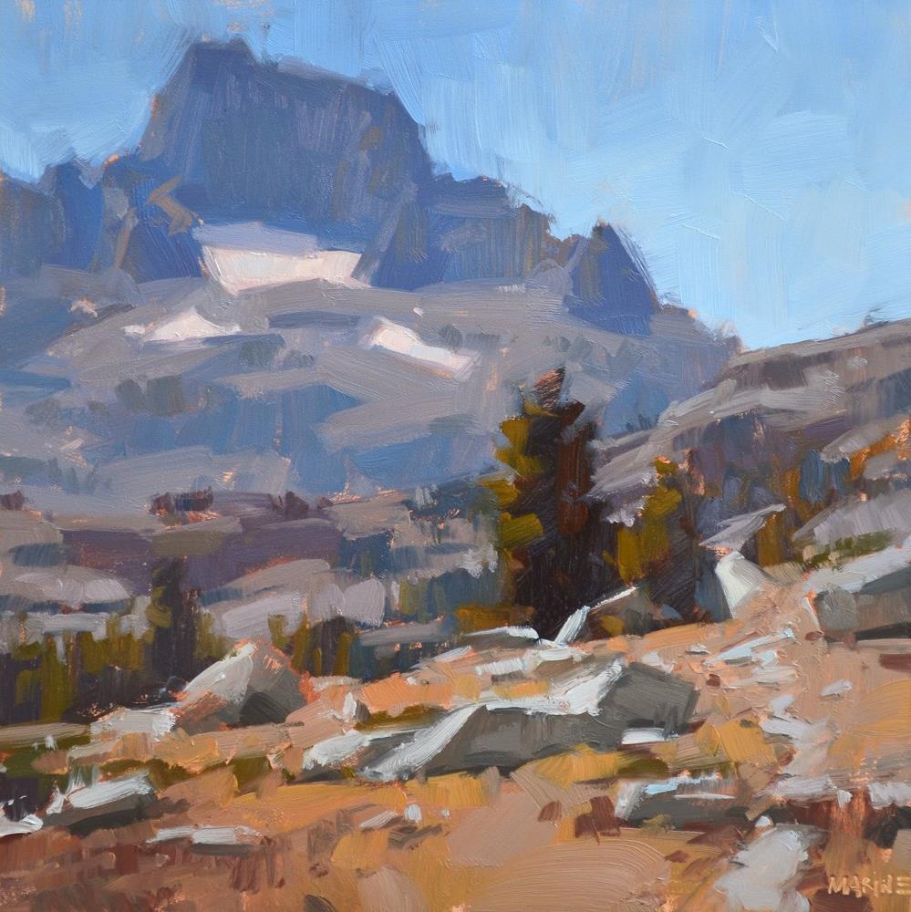"""A Strenuous Hike"" original fine art by Carol Marine"