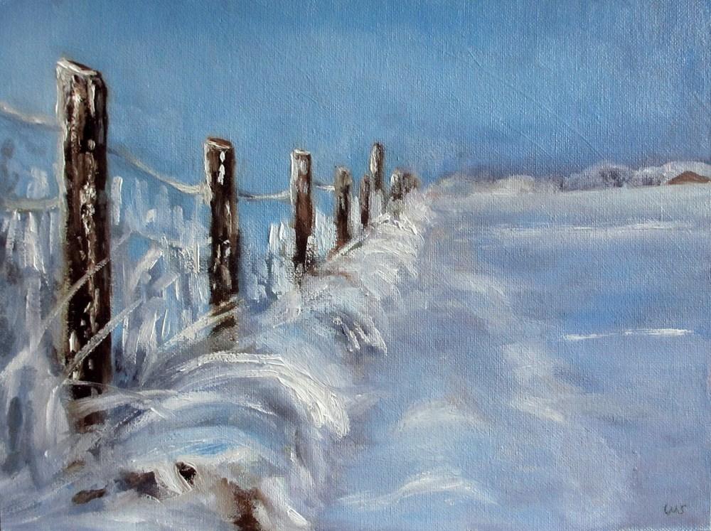 """""""Sun Snow"""" original fine art by Ulrike Miesen-Schuermann"""