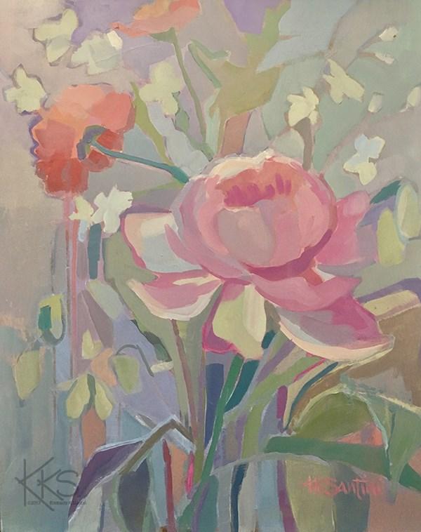 """Bouquet"" original fine art by Kimberly Santini"