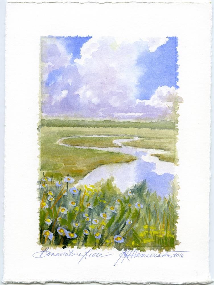 """The Estuary II"" original fine art by Eileen Hennemann"