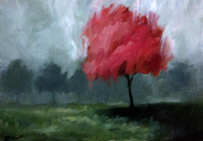 """A Cherry Tree"" original fine art by Bob Kimball"