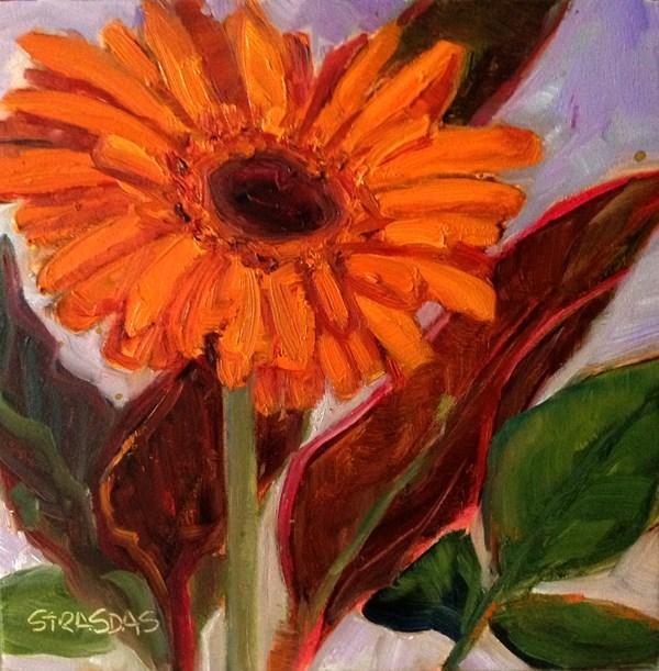 """""""Orange"""" original fine art by Marcela Strasdas"""
