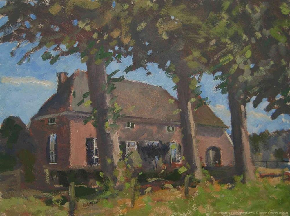 """Molenstraat 11 Bronckhorst, The Netherlands."" original fine art by René PleinAir"