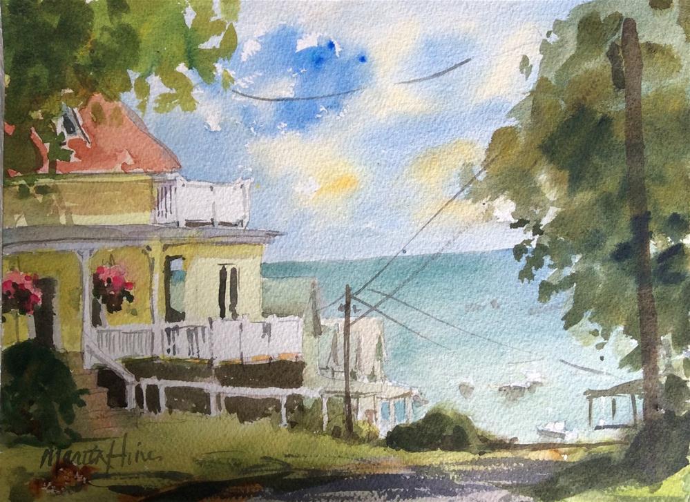 """Bayside View"" original fine art by Marita Hines"