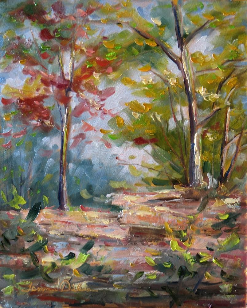 """""""First Autumn Color"""" original fine art by Tammie Dickerson"""