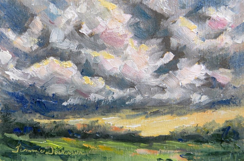 """""""Storm Clouds in July"""" original fine art by Tammie Dickerson"""