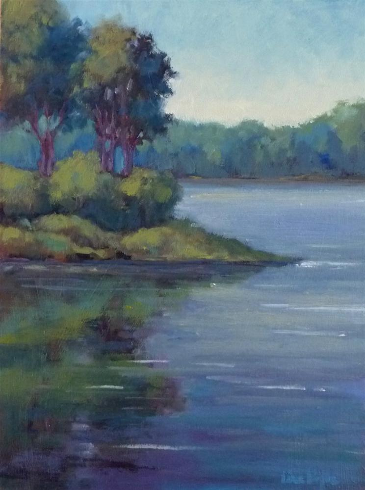 """Evening on the Cove"" original fine art by Lisa Kyle"