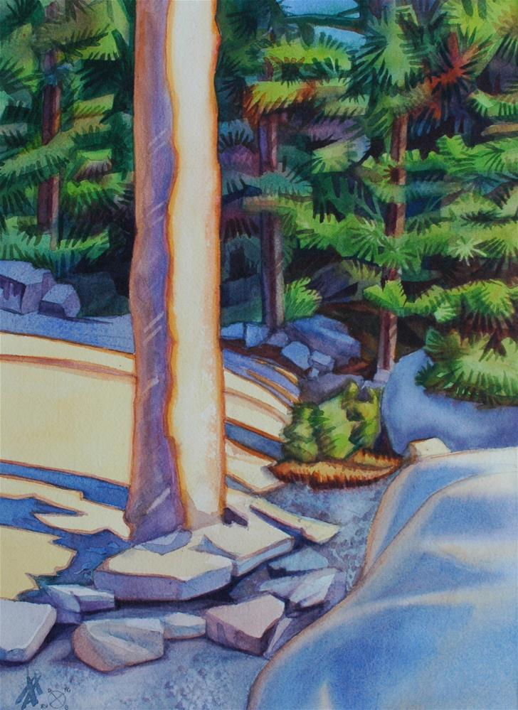 """Rocks & Pines"" original fine art by Mark Allison"