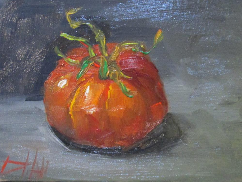 """Last Tomato"" original fine art by Delilah Smith"