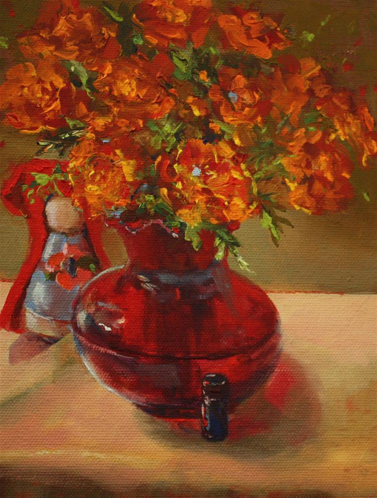 """""""Little Red Riding Hood"""" original fine art by Pamela Sweet"""