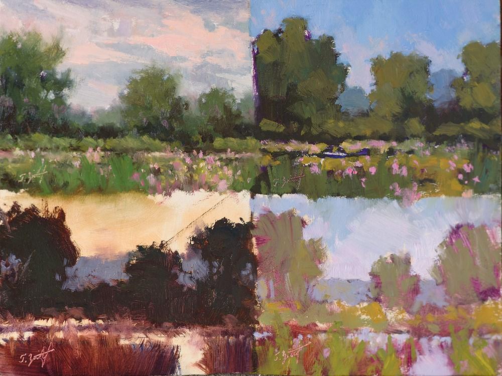 """4 Pond Study"" original fine art by Todd Zuithof"