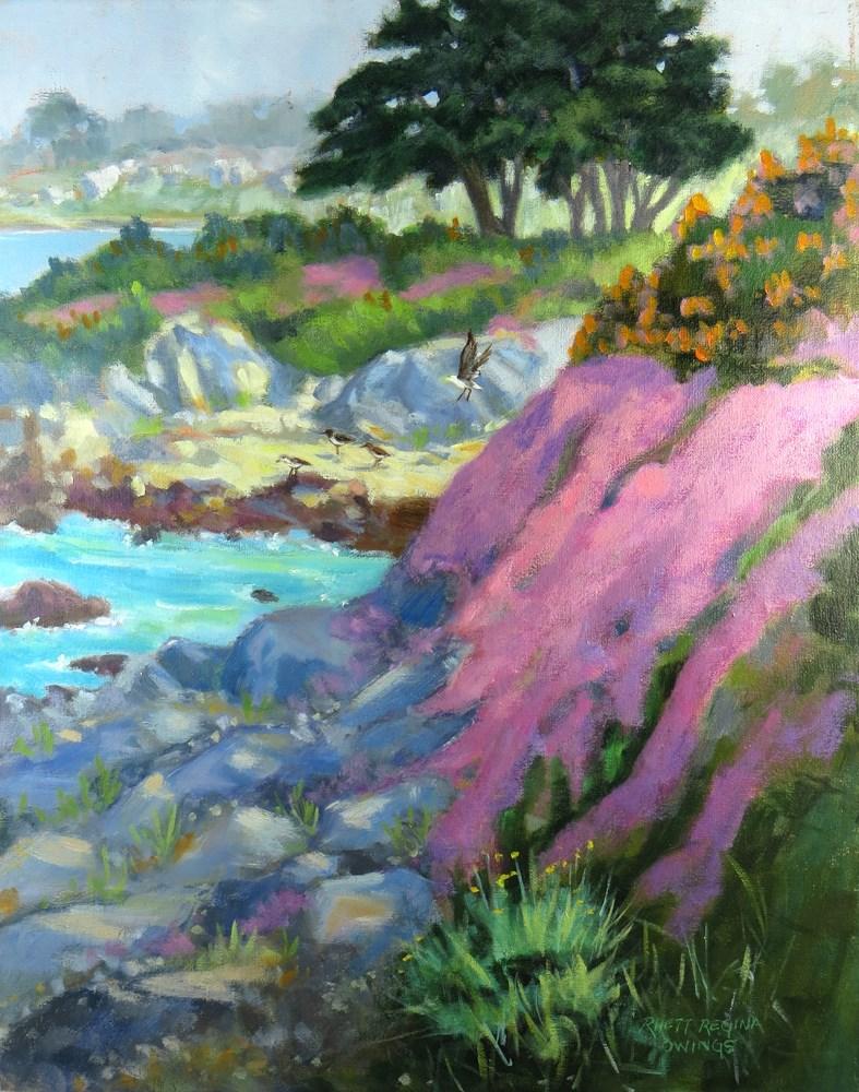 """Afternoon Light in Pacific Grove"" original fine art by Rhett Regina Owings"