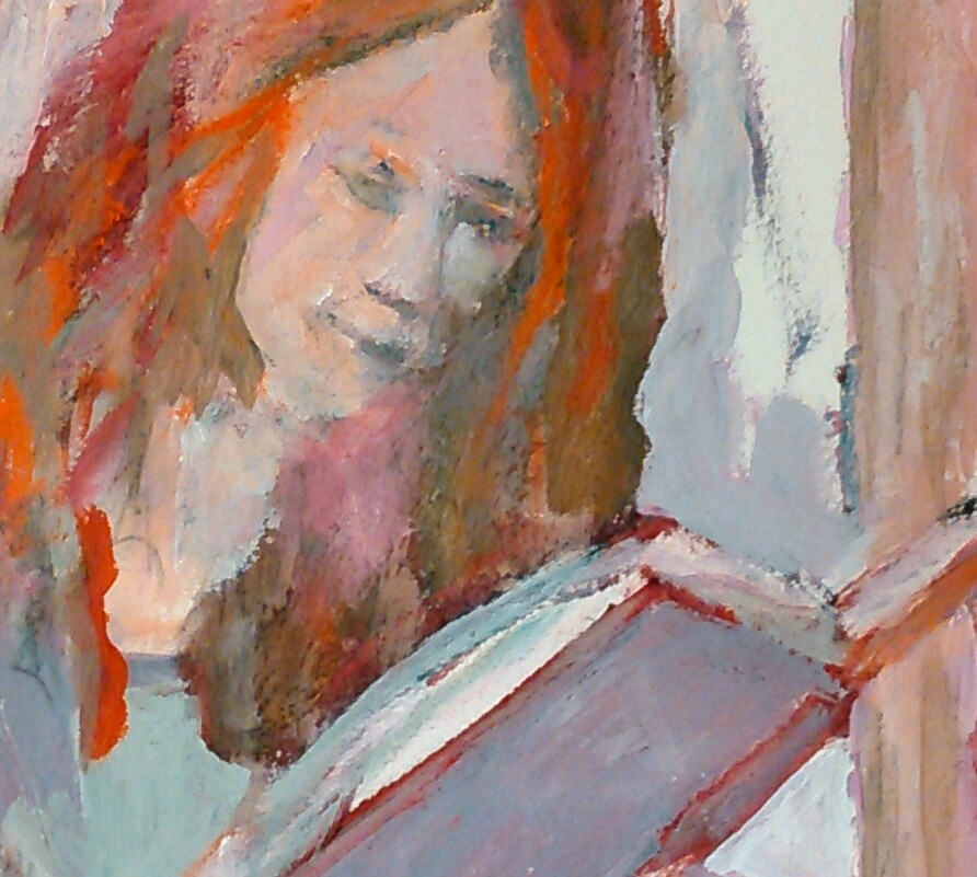 """Autumn's Book"" original fine art by Ann Rudd"