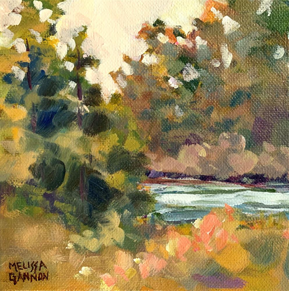 """River & Trees"" original fine art by Melissa Gannon"