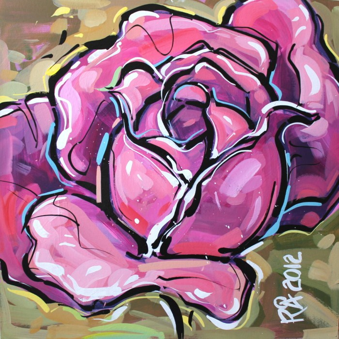 """""""Rose abstraction 2"""" original fine art by Roger Akesson"""