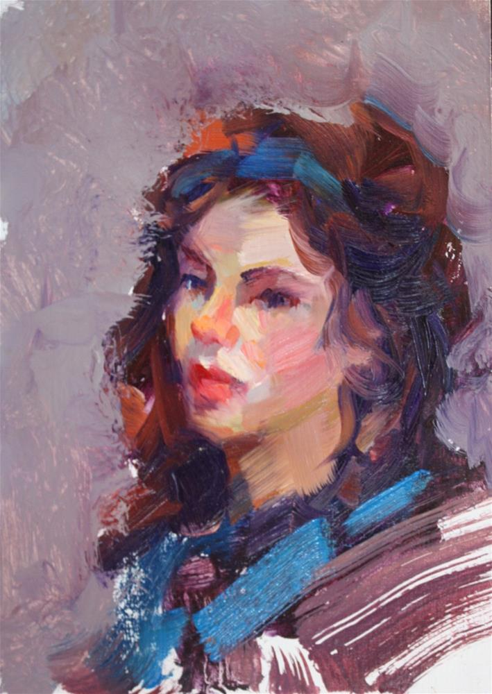 """Anna"" original fine art by Carol Myer"