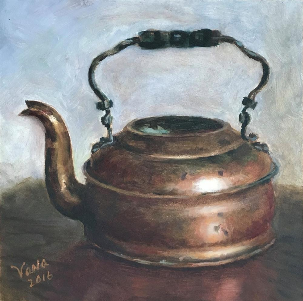 """Antique Copper Kettle"" original fine art by Vana Meyers"