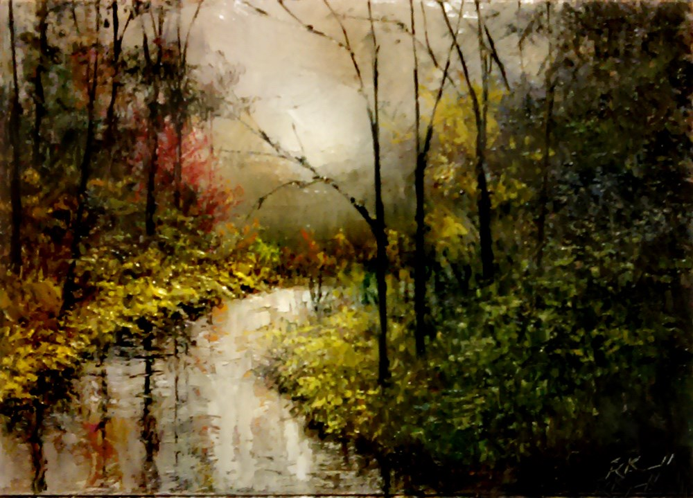 """River Curve"" original fine art by Bob Kimball"