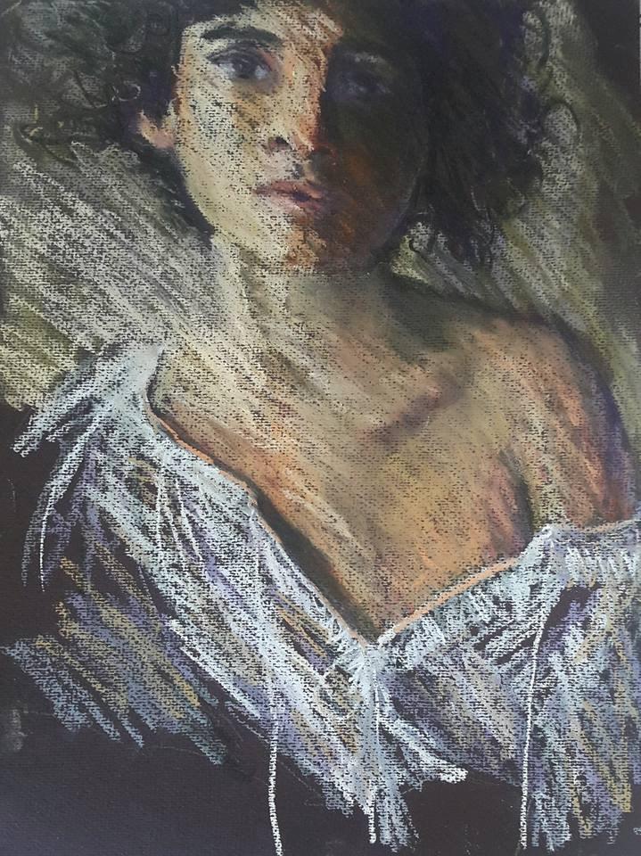 """Gypsy girl"" original fine art by Rentia Coetzee"