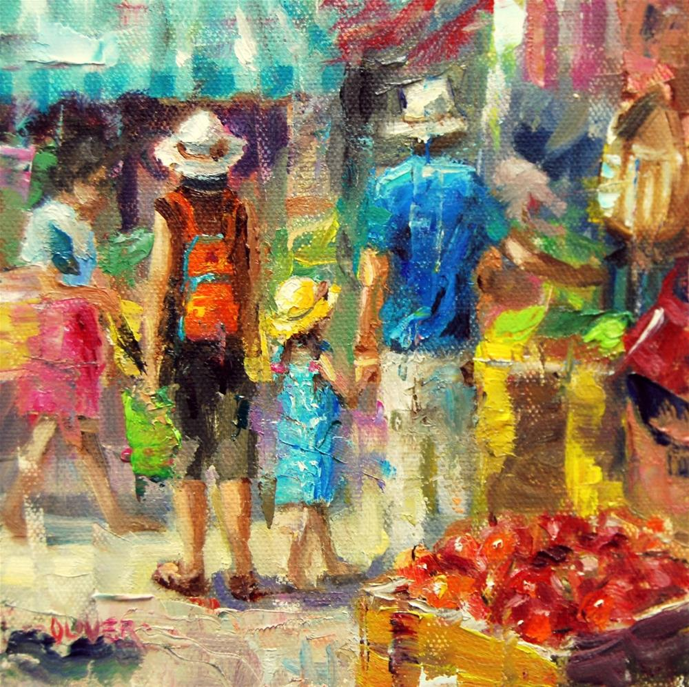 """Market Day - and handy hints."" original fine art by Julie Ford Oliver"