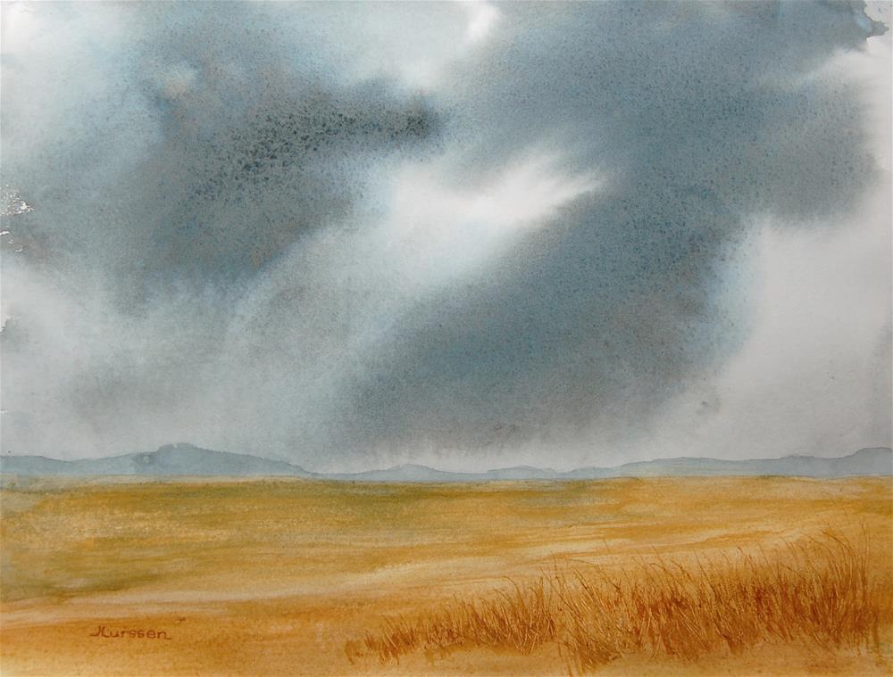 """""""Stormy Sky"""" original fine art by Jean Lurssen"""