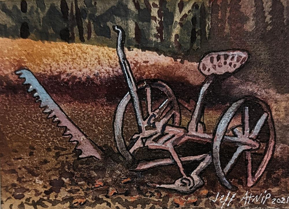 """Sickle Bar Mower"" original fine art by Jeff Atnip"