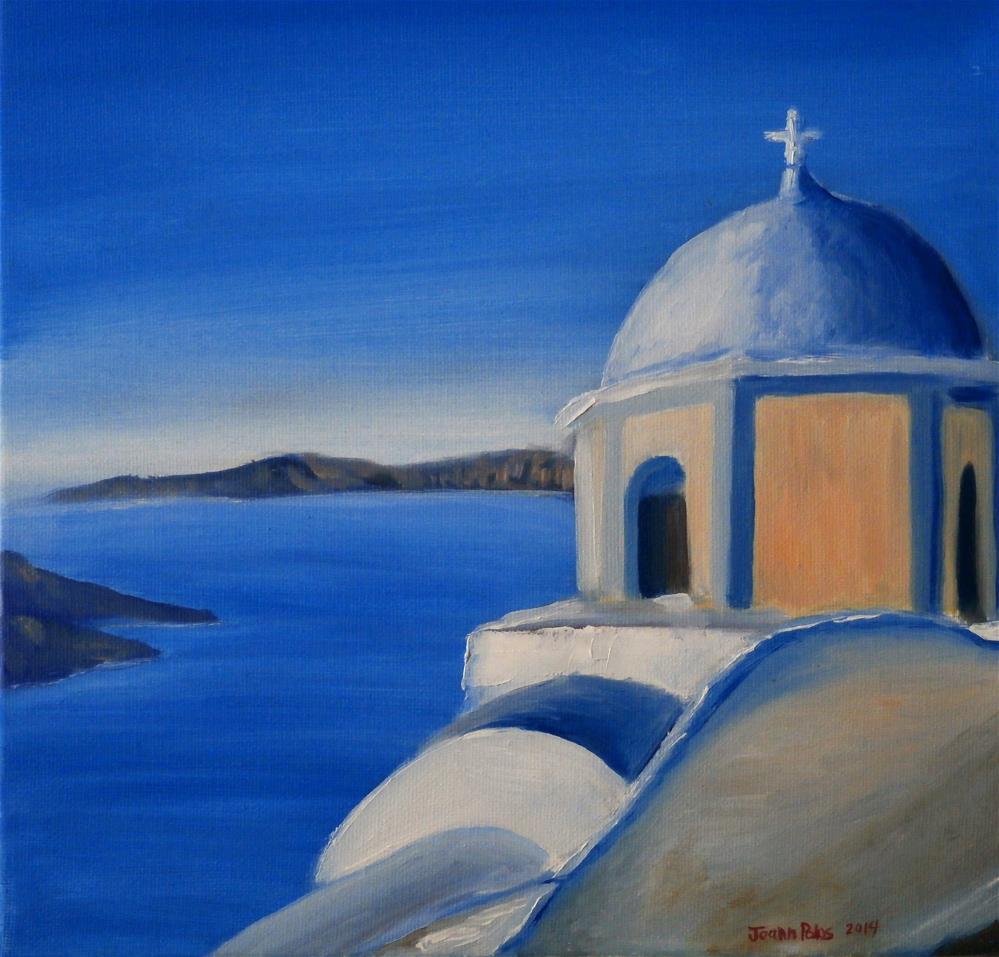 """santorini view"" original fine art by Joann Polos"