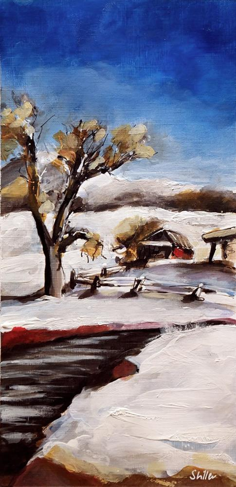 """2675 Winterscape 2"" original fine art by Dietmar Stiller"