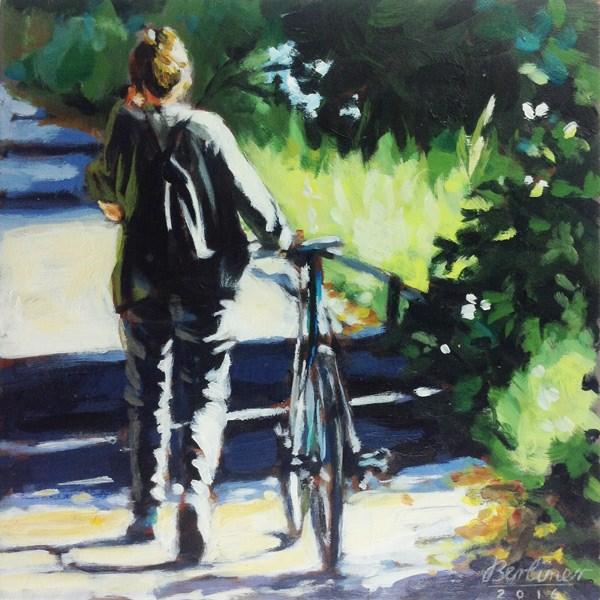 """""""079 Auf dem Uferweg"""" original fine art by Anja Berliner"""