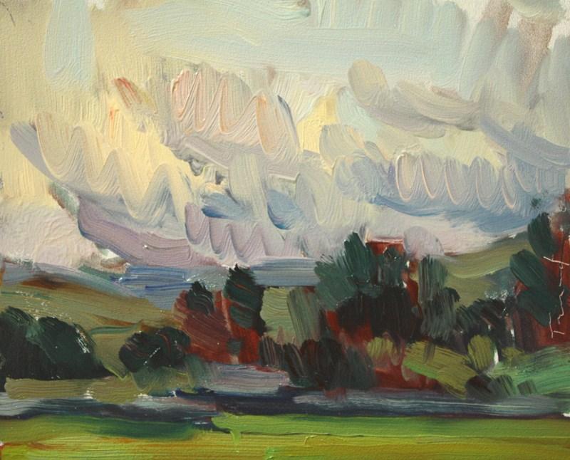 """Sketch Touchet Road"" original fine art by Kathryn Townsend"