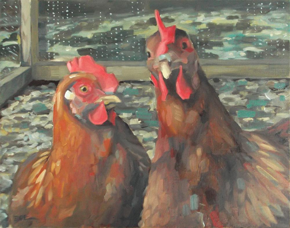 """Ladybird & Dolly"" original fine art by Karen Boe"