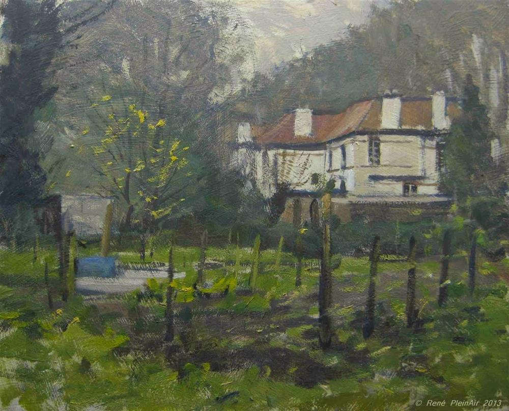 """A lot Allotments. Doetinchem, Holland."" original fine art by René PleinAir"