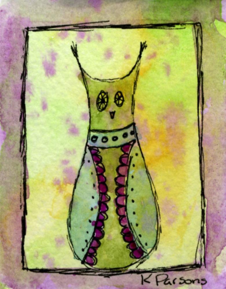 """Hoots the Owl"" original fine art by Kali Parsons"