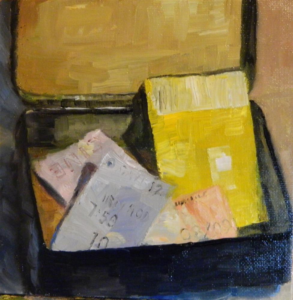 """Ticket Stubs"" original fine art by Debra Shore"